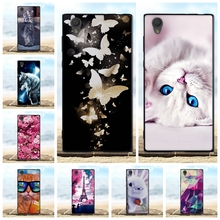 For Sony Xperia L1 Case Soft Silicone TPU Black Shell 3D Cute Cat Bags For Coque Sony Xperia L1 G3311 G3312 G3313 Phone Cases все цены