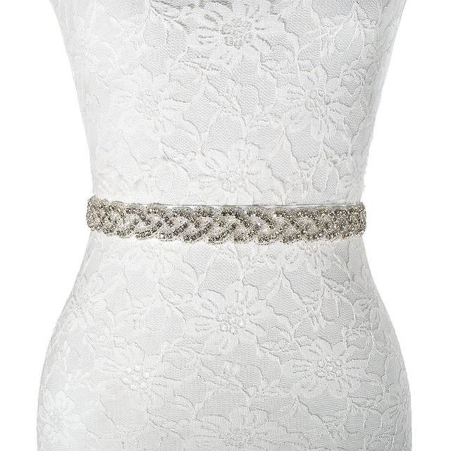 Womens Wedding Sash Elegant Rhinestone Satin Ribbon Bridal Belts Party Bride Bridesmaid Belt Dress Cummerbunds Waistband