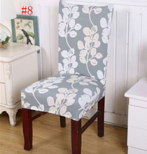 Home Classical Stretch Chair Cover Spandex Pastoral Print Dining Room Chair  Cover With Elegant Pattern(