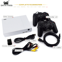 Data Frog HD Retro Video Game Console and 2 Gamepads 4 GB Built In 800 Classic Games For PS1/GBA/FC Max to 32GB Game Console