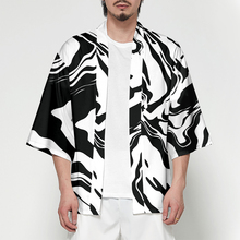 2019 New Japanese Kimono Cardigan Men Traditional Yukata kimono Summer Loose Print Long Clothes Jacket Coat