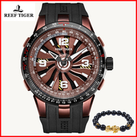 2019 Brand Design Reef Tiger/RT Military Watches Mens Sport Rubber Strap Automatic Rotate Pilot Watch Relogio Masculino RGA3059