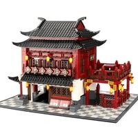 New Ancient Hotel China Architecture 1643pcs Building Toy Brick Blocks Model legoinglys City House Children Toys Gift Decor