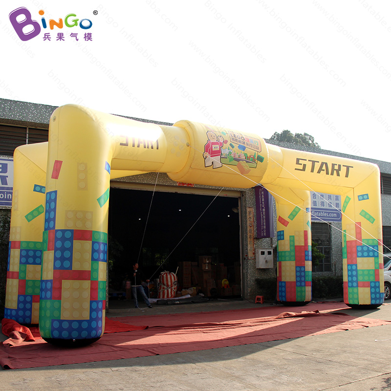 Free shipping 10X4X5.2 m inflatable arch with 4 pillars with digital printing for advertising promotional blow up entrance toysFree shipping 10X4X5.2 m inflatable arch with 4 pillars with digital printing for advertising promotional blow up entrance toys