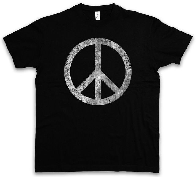 Peace Symbol T Shirt Sign Logo Hippie 60s Cultur Goa Gay Free Love