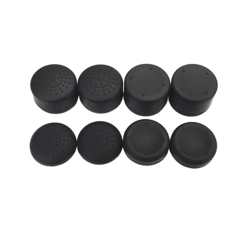8Pcs Thumb Stick Grips Caps Replacement Silicone Analog Joystick For PS4 PS3 X360 Anti-skid Heighten Joy Con For Game Controller(China)