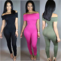 2016 New Women Off-shoulder Jumpsuit Bodycon Casual  Long Pants Playsuit Romper