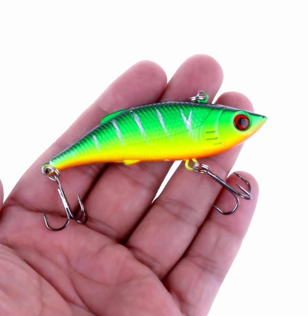 1Pcs 7.5cm 10g Rattlin Vib Fishing Lure Artificial Bait Vibration Fishing Tackle Crap Fishing Swimbait Pesca Wobblers