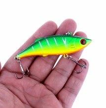 Купить с кэшбэком 1Pcs 7.5cm 10g Rattlin Vib Fishing Lure Artificial Bait Vibration Fishing Tackle Crap Fishing Swimbait Pesca Wobblers
