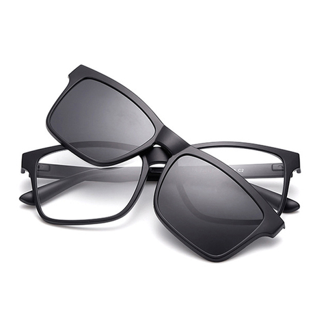 samjune Clip on Sunglasses clip on glasses square Lens Men Women mirror clip Sun Glasses Night Vision Driving sunglasses for men Pakistan