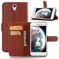 2016 carteira de couro pu vintage case para lenovo vibe s1 telefone bag capa com suporte de cartão flip book coque mobilskal