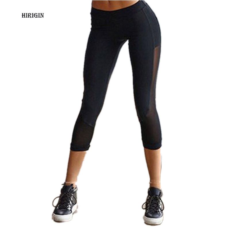 16cdae108a0620 Gothic Black Workout Leggings Women Slim Capri Pants Legging Stretchy  Fitness Trousers Ladies Womens Compression Pants-in Leggings from Women's  Clothing on ...