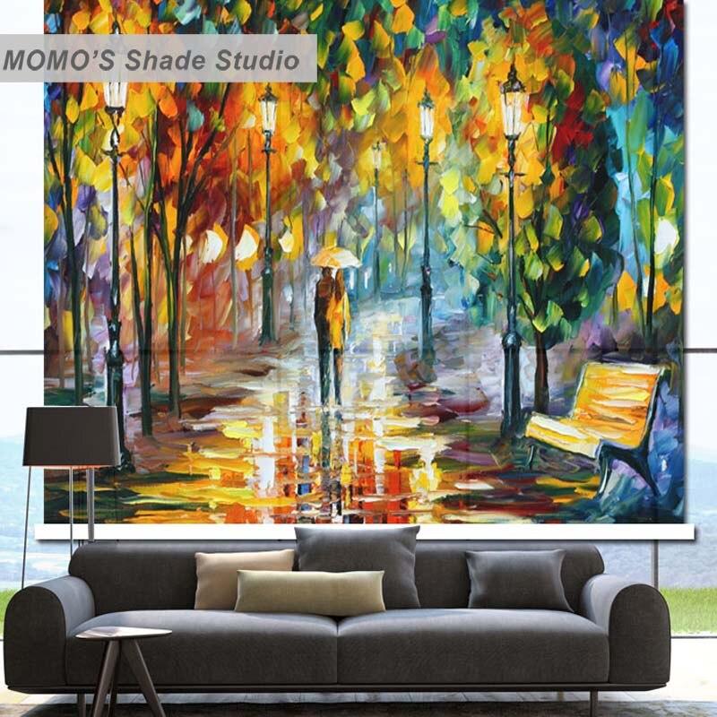 MOMO Com Isolamento Térmico Tecido Apagão Personalizado Golden Tree Janela Cortinas Cortinas De Rolo Cortinas, Alice 104