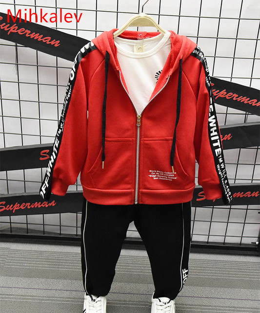 a307cd80a3fd Mihkalev Fashion Zipper Hooded kids jacket girls autumn clothes Red ...