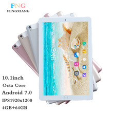 2018 NEW Octa Core 3G 4GLTE Tablet PC 4GB RAM 64GB ROM 1920*1200 Dual Cameras 8MP Android 7.0 Tablets 10 inch  Tablet Pcs