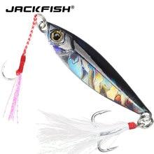 Jackfish 16g/6cm metal gabarito duro isca de água salgada jigging chumbo isca de pesca a laser afundando isca de pesca colorida pesca dura isca