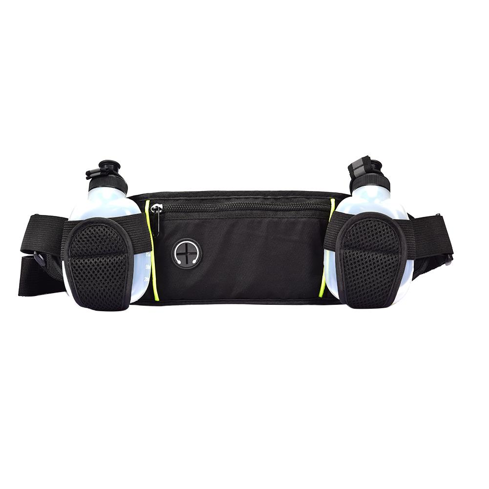 Outdoor Sports Pockets Waist Packs Bag With Two Water Bottles Travel Running Waist Pack For Outdoor Sport Belt Men Hanging Bags