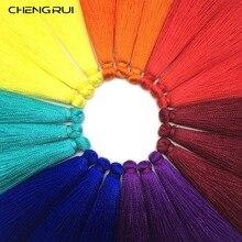 CHENGRUI L24, 6,5 см, с кисточками, шелк, бахрома, бахрома, отделка, ремесло, кисточки, сделай сам процесс, бахрома, занавес, предметы домашнего обихода, 10 шт./пакет
