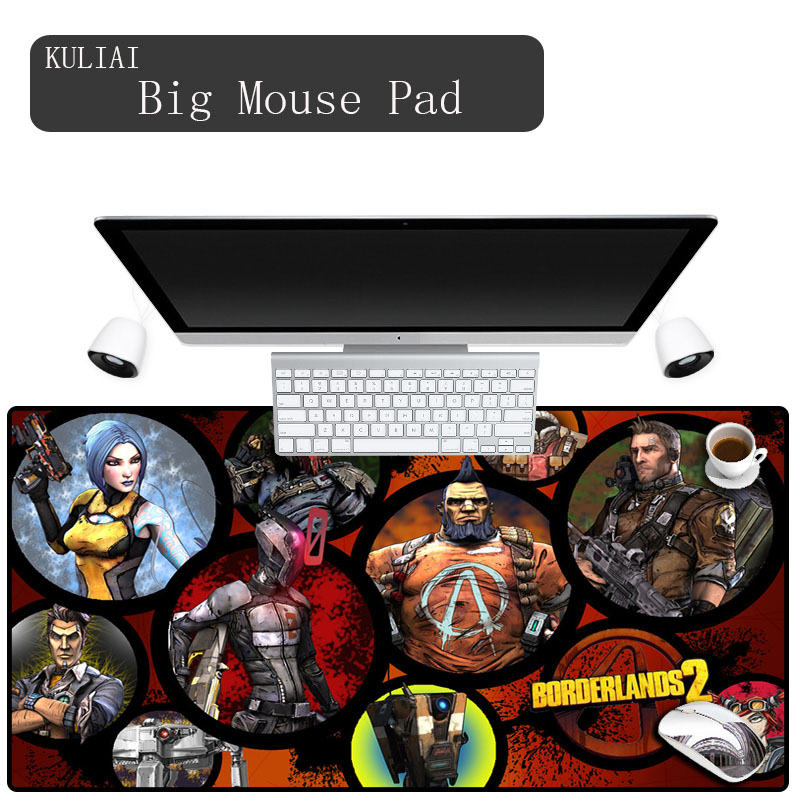 XGZ DIY Custom Large Size Mouse Pad Size 30X60to40X90cm Rubber Anti-skid Borderlands Game Keyboard Mats Decorate Your Table image