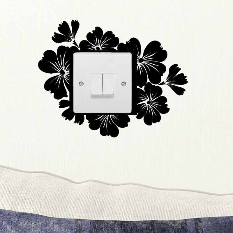 Light Switch Decals Wall Stickers Interior Art Decoration Black 4WS0157