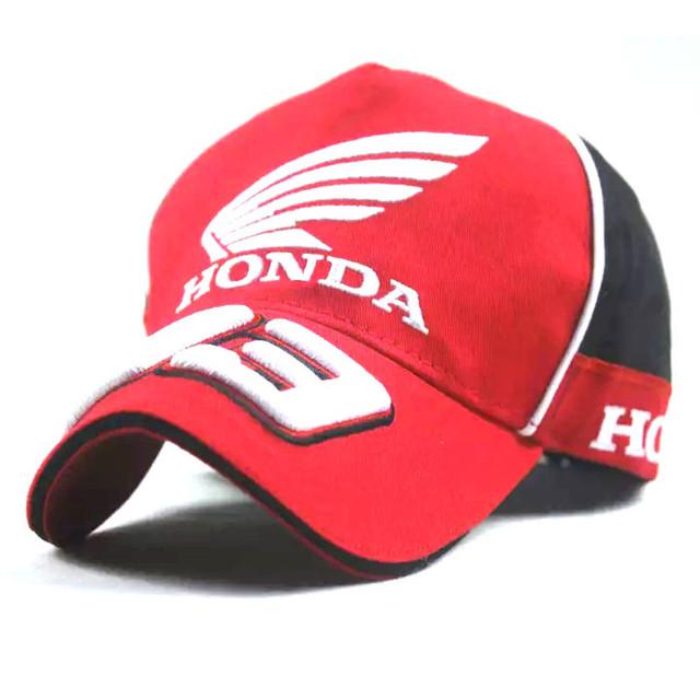 Honda marca assinatura 93 bordado equipe de corrida boné de beisebol snapback hip hop ajustável carta tampão de golfe das mulheres dos homens sol