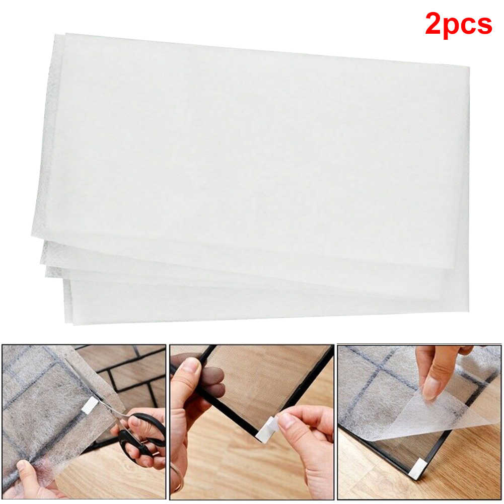 2pcs/bag Cleaning Adhesive Durable Papers Anti-Dust Bedroom Practical Air Condition Filter Scalable Home Replacement Net Mesh