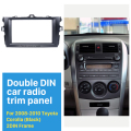 Preto Double Din Car Radio Fascia para 2008 2009 2010 Toyota Corolla Kit Traço Stereo Audio Player Placa Do Painel