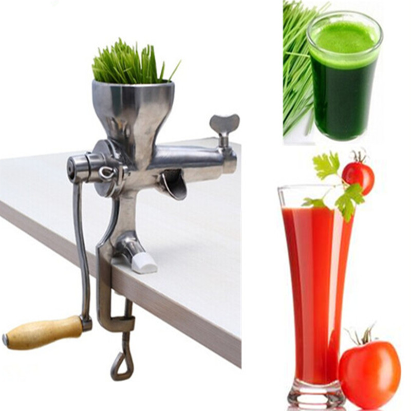wheatgrass juice extractor manual stainless steel screw juicer stainless steel hand wheatgrass juicer machine manual auger slow juice ideal for fruit vegetables orange juice extractor