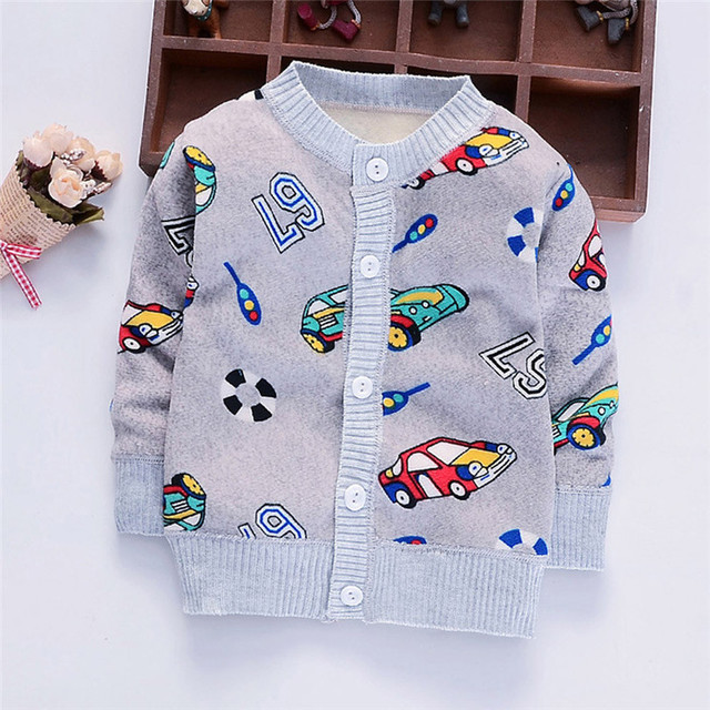 d5be3447a1d0 children Warm Car Rocket Pattern Sweater Toddler Infant Baby Boys ...
