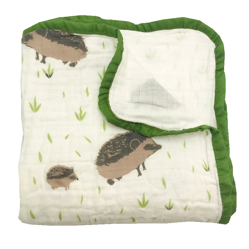 Four Layer 100% Cotton Muslin Baby Blankets Newborn Swaddling Super Comfy Bedding Blanket Swaddle Wrap Babies