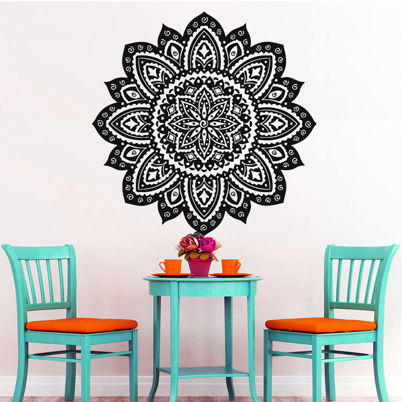 Home Decor Wall Stickers Dctal Buddha Quotes Namaste Wall Decals Yoga Mandala Wall Stickers Living Rooms Diy Home Decor Yoga Decoration