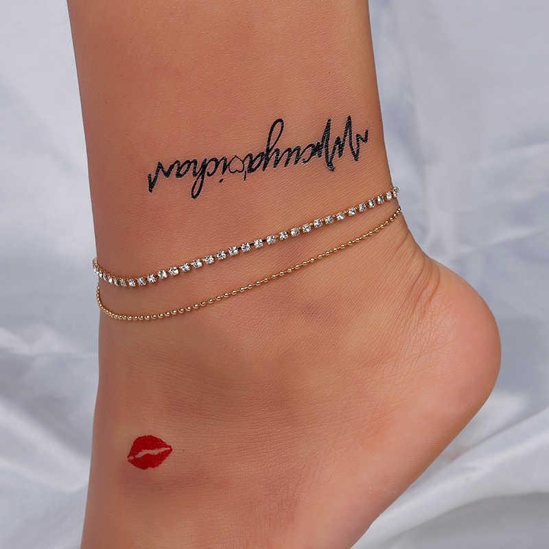 GUVIVI ラウンドビーズボヘミアン女性アクセサリーゴールド層葉裸足サンダル足脚ブレスレット宝石類のギフト