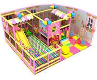 Parc de labyrinthe d'enfants de structure de terrain de jeu électrique de château vilain doux d'intérieur adapté aux besoins du client d'enfants avec la piscine de boule YLW IN171051