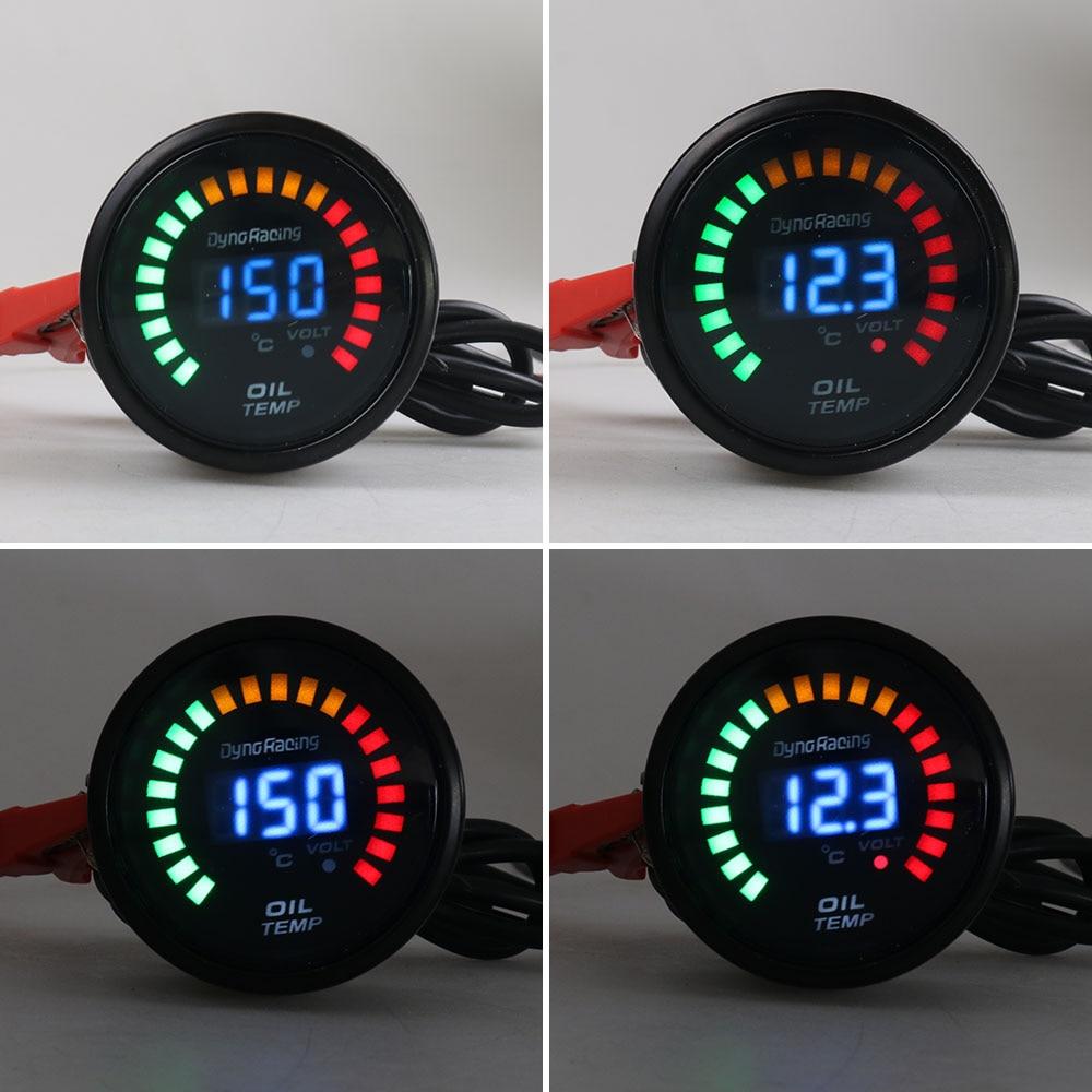 Dynoracing Black 2 Inch 52mm Digital LED Car Oil Temp Gauge 20-150 Celsius Oil Temperature Gauge Car Meter BX101454
