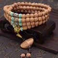 Tibetan 108  Authentic Kingkong Bodhi Seeds Meditation Prayer Mala Nepal Rudraksha Bodhi bracelet with Tassel for Man