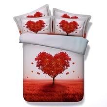 6 Parts Per Set Bed Sheet Set Fantasy Tree of love 3d bedding set
