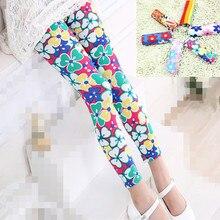 Детские леггинсы принт микрофибра леггинсы для девочек летние обтягивающие брюки с цветочным принтом Одежда для детей kd2 kd3 kd4