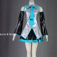 Japoński anime vocaloid hatsune miku cosplay cosplay costume uniform dress pełny zestaw 6 kolory dostępne