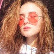 LEONLION 2019 Round Cute Sexy Retro sunglasses Women Small Colorful Transparent
