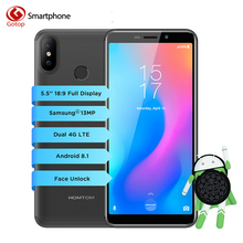 Homtom C2 MT6739 Quad Core  5.5 inch HD+ Screen Smartphone 2GB RAM 16GB ROM 13MP+2MP Dual Back Cam Face ID 4G LTE Mobile Phone(China)