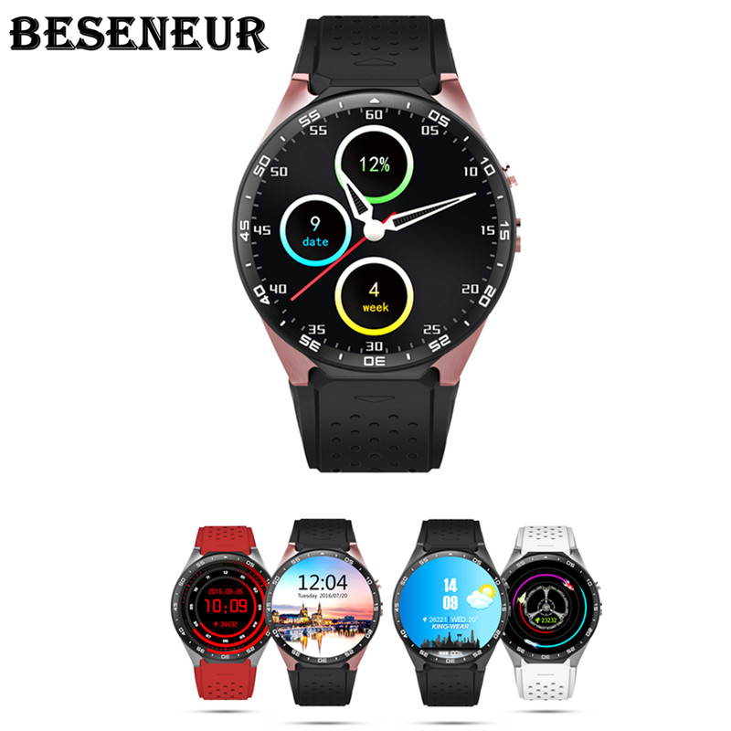 KW88 Smart Watch Android 5.1 OS 1.39 inch Screen Nano Sim Card 2.0MP Camera 3G Network WIFI GPS Smartwatch MTK6580 CPU for Phone potino gw11 3g watch bluetooth 1 3 inch ultra thin screen smart watch phone support nano sim card wifi gps map pedometer
