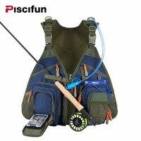 Piscifun 플라이 낚시 조끼 낚시 낚시꾼 조끼 태클 기어 포함 물 방광 방수 전화 파우
