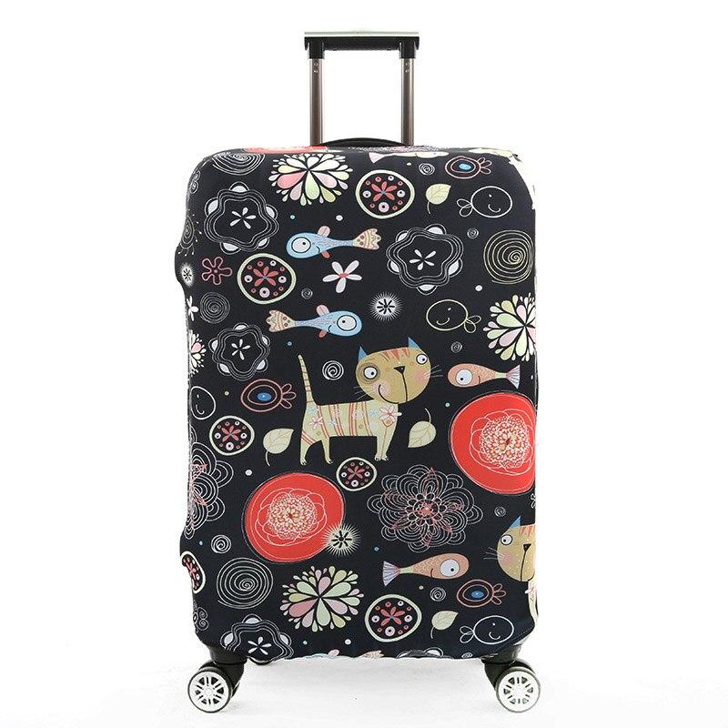 Tldgagas tecido elástico zebra padrão bagagem capa