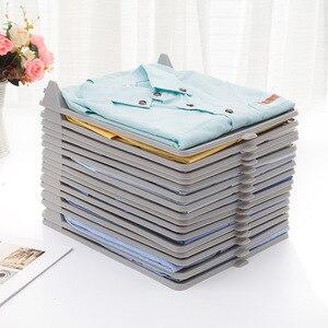 Image 3 - 10 pc/set criativo prático overlapeable vestido placa vestuário t shirts roupas organizador gaveta gabinete placa pano ferramenta de armazenamento