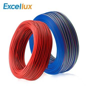 1 M/5 M/10 M 2PIN 3PIN 4PIN 5PIN Cable conector LED Cable de extensión para tira de LED RGB de un solo color RGBW 5050 WS2812 etc