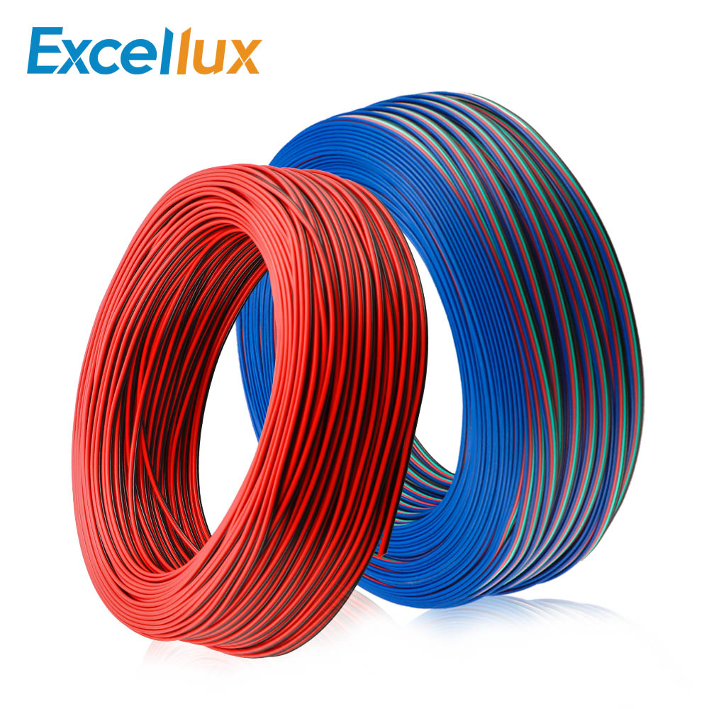1M / 5M / 10M 2PIN <font><b>3PIN</b></font> <font><b>4PIN</b></font> 5PIN Wire LED Connector Wire Extension <font><b>Cable</b></font> For Single color RGBW <font><b>RGB</b></font> LED Strip 5050 WS2812 etc image