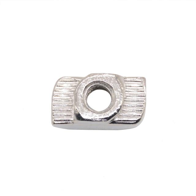 Carbon steel T type Nuts Fastener Aluminum Connector M3 M4 M5 For EU Standard 2020 Industrial Aluminum Profile for Kossel