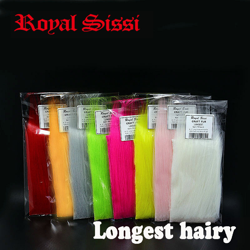 US $14.39 20% OFF|8packs/set longest haired artificial craft fur fluffy long synthetics fibers fly tying material for salmon pike streamer flies|tying materials|fly tying materials|fly tying - AliExpress