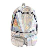 TEXU Women HOLOGRAPHIC Gammaray Hologram Backpack Shoulder Bag School Travel Colors Silver