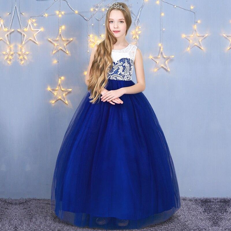 5-14y Girls Princess Dress Carnival Costumes Children Lace Flower Girl  Dress For Wedding Girls 4ac13fcb26db